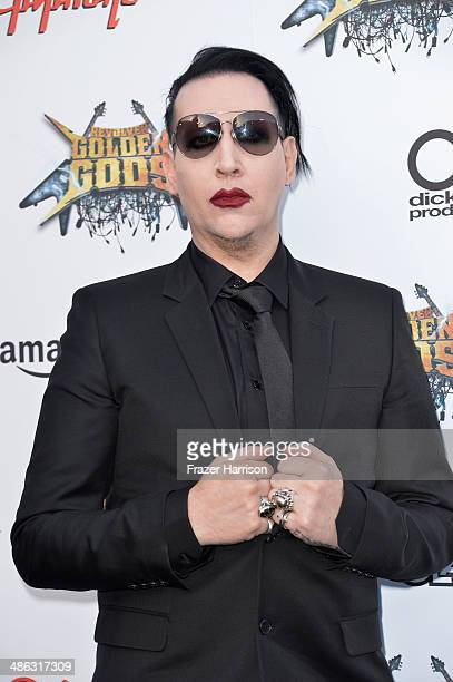 Musician Marilyn Manson attends the 6th Annual Revolver Golden Gods Award Show at Club Nokia on April 23 2014 in Los Angeles California