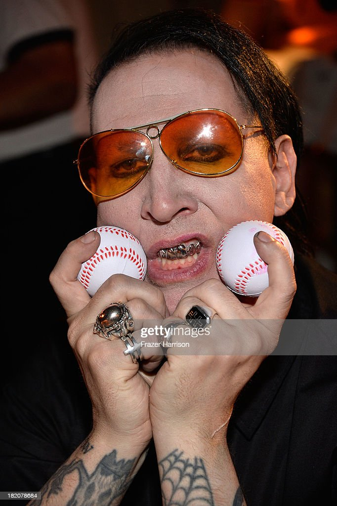 Musician <a gi-track='captionPersonalityLinkClicked' href=/galleries/search?phrase=Marilyn+Manson&family=editorial&specificpeople=208980 ng-click='$event.stopPropagation()'>Marilyn Manson</a> attends the Premiere Of HBO's Final Season Of 'Eastbound And Down'after Party at the Avalon on September 27, 2013 in Hollywood, California.