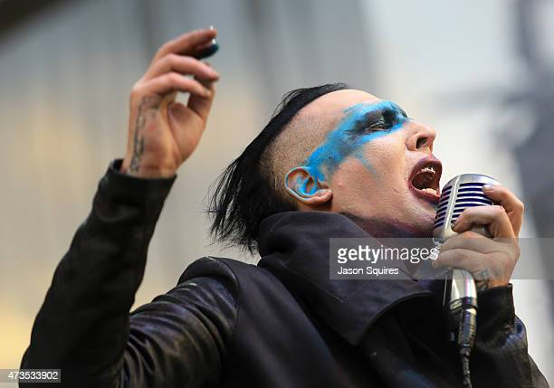 Musician Marilyn Manson performs at MAPFRE Stadium on May 15 2015 in Columbus Ohio