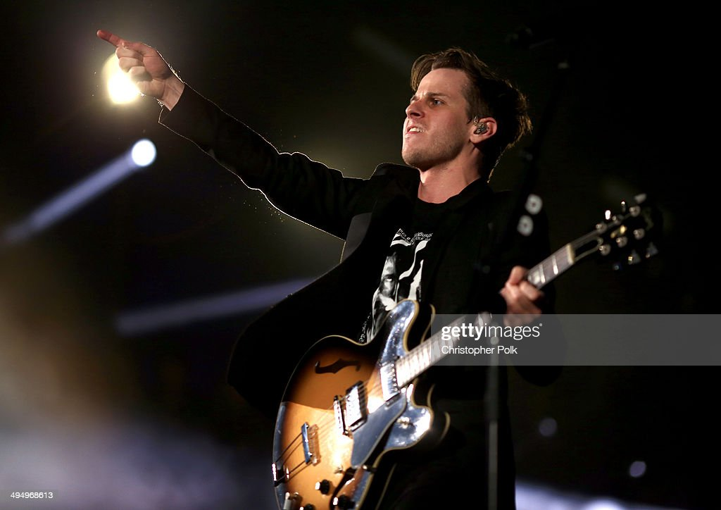 Musician Mark Foster of Foster the People perform onstage during the 22nd Annual KROQ Weenie Roast at Verizon Wireless Music Center on May 31 2014 in...
