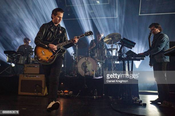 Musician Mark Foster of Foster The People performs on stage on opening night of their tour at The Observatory North Park on May 26 2017 in San Diego...
