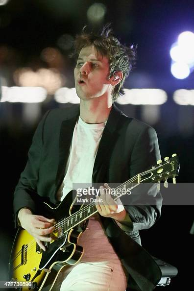 Musician Mark Foster of Foster the People performs onstage during Rock in Rio USA at the MGM Resorts Festival Grounds on May 8 2015 in Las Vegas...