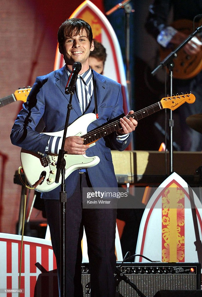 Musician Mark Foster of the band Foster the People performs onstage at the 54th Annual GRAMMY Awards held at Staples Center on February 12 2012 in...