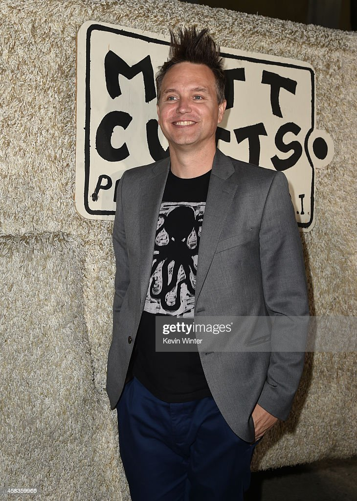 Musician <a gi-track='captionPersonalityLinkClicked' href=/galleries/search?phrase=Mark+Hoppus&family=editorial&specificpeople=211529 ng-click='$event.stopPropagation()'>Mark Hoppus</a> attends the premiere of Universal Pictures and Red Granite Pictures' 'Dumb And Dumber To' on November 3, 2014 in Westwood, California.