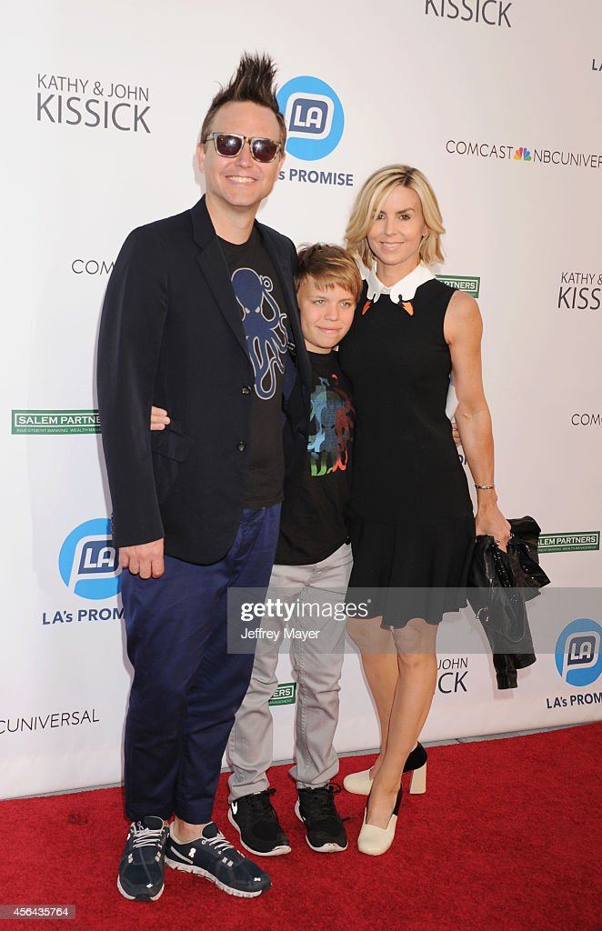 Musician <a gi-track='captionPersonalityLinkClicked' href=/galleries/search?phrase=Mark+Hoppus&family=editorial&specificpeople=211529 ng-click='$event.stopPropagation()'>Mark Hoppus</a> of Blink 182 and family attend the 2014 LA's Promise Gala honoring exemplary advocates of education at The Globe Theatre at Universal Studios on September 30, 2014 in Universal City, California.