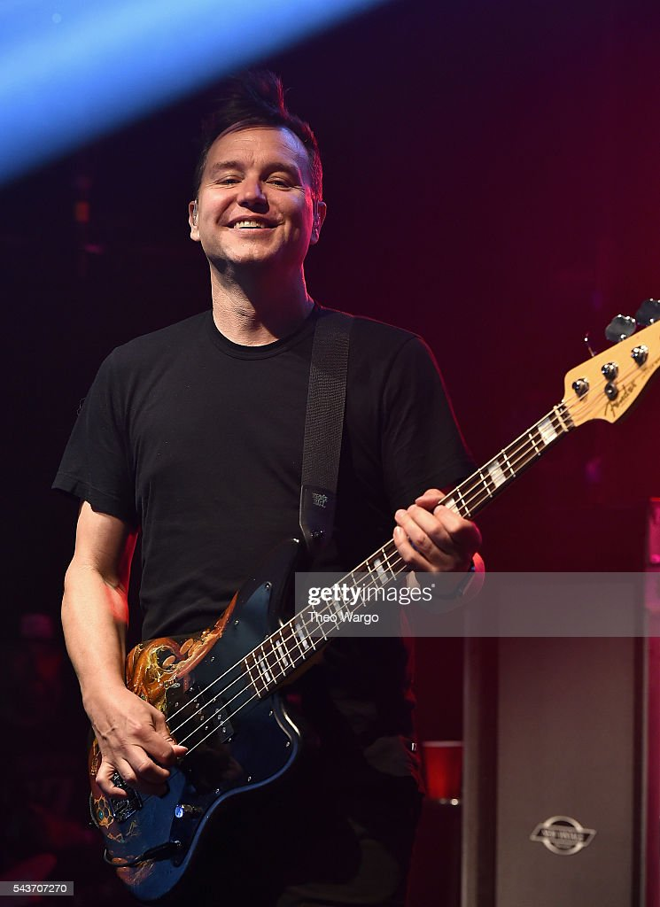 Musician <a gi-track='captionPersonalityLinkClicked' href=/galleries/search?phrase=Mark+Hoppus&family=editorial&specificpeople=211529 ng-click='$event.stopPropagation()'>Mark Hoppus</a> performs at iHeartRadio Live featuring Blink-182, presented by Capital One and Uber at the iHeartRadio Theater New York on June 29, 2016 in New York City.