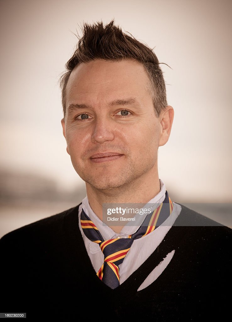 Musician <a gi-track='captionPersonalityLinkClicked' href=/galleries/search?phrase=Mark+Hoppus&family=editorial&specificpeople=211529 ng-click='$event.stopPropagation()'>Mark Hoppus</a> poses during the photocall of 47th Midem at Palais des Festivals on January 28, 2013 in Cannes, France.