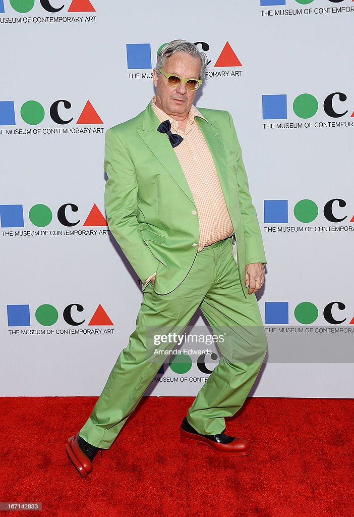 Musician <a gi-track='captionPersonalityLinkClicked' href=/galleries/search?phrase=Mark+Mothersbaugh&family=editorial&specificpeople=657806 ng-click='$event.stopPropagation()'>Mark Mothersbaugh</a> arrives at the 'Yesssss!' 2013 MOCA Gala, celebrating the opening of the exhibition Urs Fischer at MOCA Grand Avenue on April 20, 2013 in Los Angeles, California.