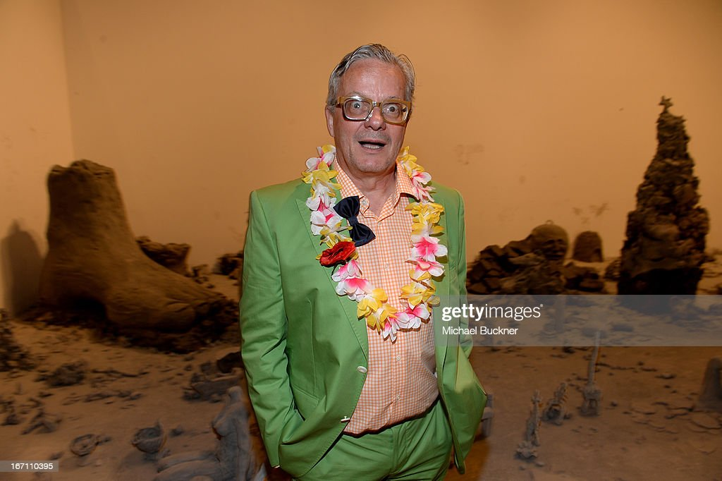 "Musician <a gi-track='captionPersonalityLinkClicked' href=/galleries/search?phrase=Mark+Mothersbaugh&family=editorial&specificpeople=657806 ng-click='$event.stopPropagation()'>Mark Mothersbaugh</a> attends ""Yesssss!"" MOCA Gala 2013, Celebrating the Opening of the Exhibition Urs Fischer, at MOCA Grand Avenue and The Geffen Contemporary on April 20, 2013 in Los Angeles, California."