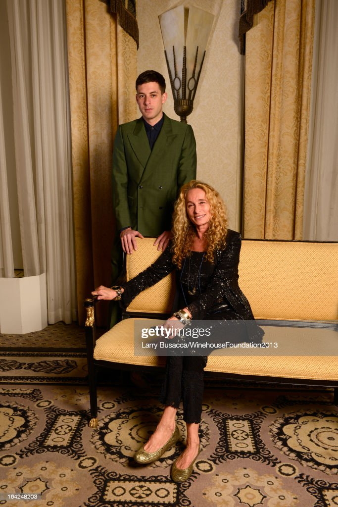 Musician Mark Ronson (L) and Ann Dexter-Jones pose for a portrait during the 2013 Amy Winehouse Foundation Inspiration Awards and Gala at The Waldorf=Astoria on March 21, 2013 in New York City.