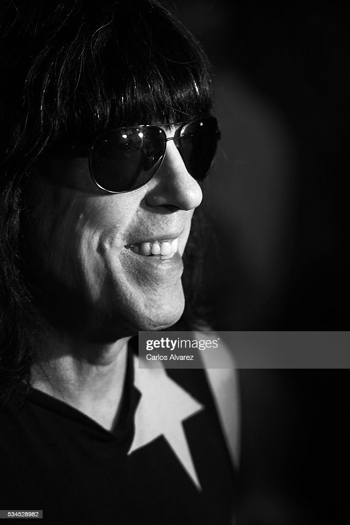 Musician <a gi-track='captionPersonalityLinkClicked' href=/galleries/search?phrase=Marky+Ramone&family=editorial&specificpeople=1995170 ng-click='$event.stopPropagation()'>Marky Ramone</a> attends 'Ramones' 40th anniversary party at El Principito Club on May 26, 2016 in Madrid, Spain.