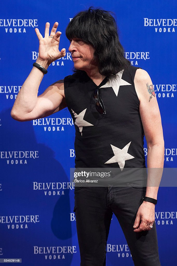 Musician Marky Ramone attends 'Ramones' 40th anniversary party at El Principito Club on May 26, 2016 in Madrid, Spain.
