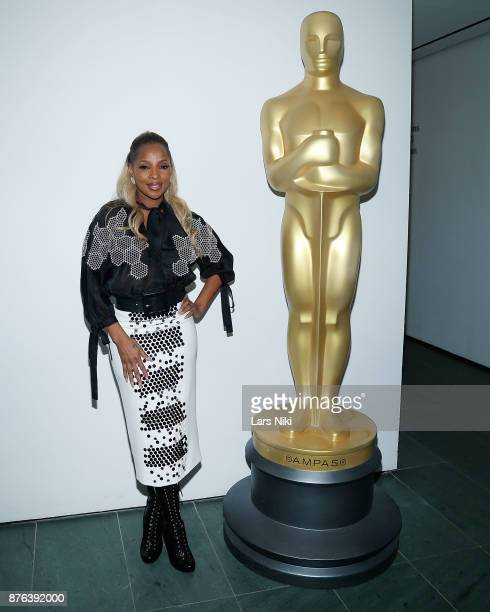 Musician Mary J Blige attends The Academy of Motion Picture Arts Sciences Official Academy Screening of Mudbound at the MOMA Celeste Bartos Theater...