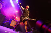 Musician Matt Skiba of Blink 182 performs at the 8th Annual Musink tattoo and music festival at OC Fair Events Center on March 22 2015 in Costa Mesa...