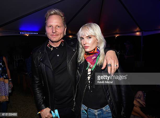 Musician Matt Sorum and Ace Harper attend Desert Trip at The Empire Polo Club on October 16 2016 in Indio California