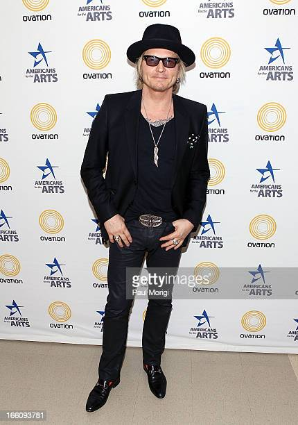 Musician Matt Sorum poses for a photo backstage at The Nancy Hanks Lecture on Art and Public Policy sponsored by Ovation at John F Kennedy Center for...