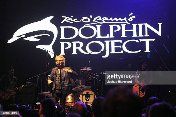 Musician Matt Sorum speaks at the Avalon for Kings of Chaos Tokyo Celebrates The Dolphin Benefit Concert on November 18 2013 in Hollywood California