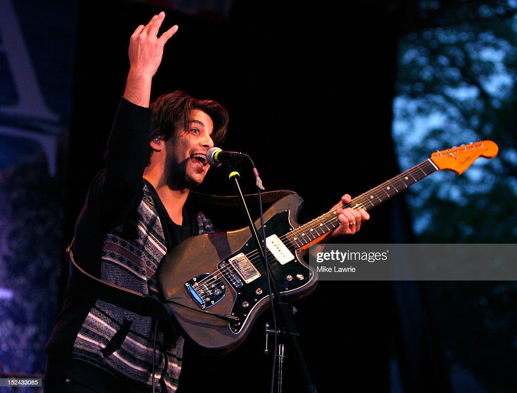 Musician Matt Vasquez of Delta Spirit performs at SummerStage at Rumsey Playfield, Central Park on September 20, 2012 in New York City.