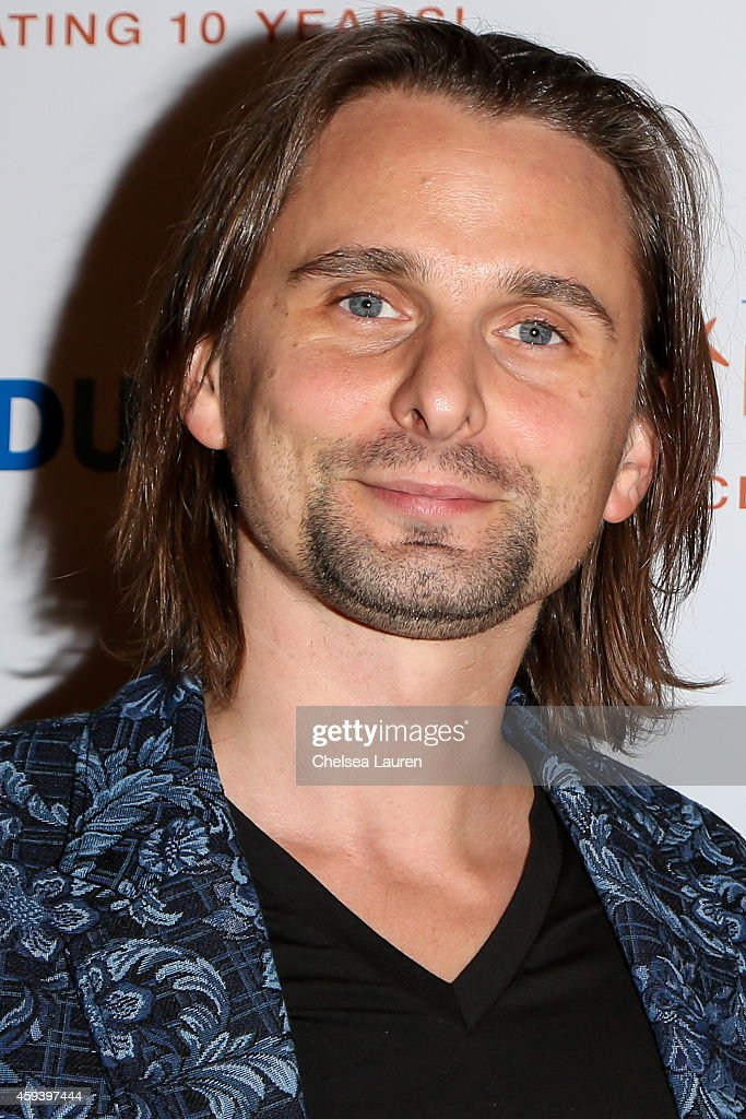 Musician <a gi-track='captionPersonalityLinkClicked' href=/galleries/search?phrase=Matthew+Bellamy&family=editorial&specificpeople=225046 ng-click='$event.stopPropagation()'>Matthew Bellamy</a> arrives at Goldie Hawn's inaugural 'Love In For Kids' benefiting the Hawn Foundation's MindUp program at Ron Burkle's Green Acres Estate on November 21, 2014 in Beverly Hills, California.