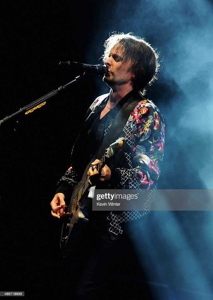 Musician <a gi-track='captionPersonalityLinkClicked' href=/galleries/search?phrase=Matthew+Bellamy&family=editorial&specificpeople=225046 ng-click='$event.stopPropagation()'>Matthew Bellamy</a> of Muse performs onstage during day 2 of the 2014 Coachella Valley Music & Arts Festival at the Empire Polo Club on April 19, 2014 in Indio, California.