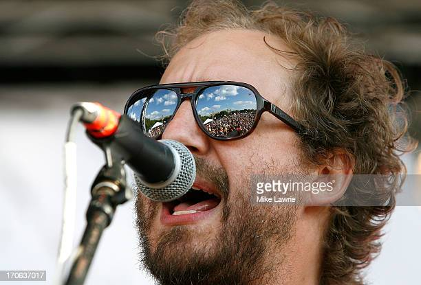 Musician Matthew Houck of Phosphorescent performs during the 2013 Northside Festival at McCarren Park on June 15 2013 in the Brooklyn borough of New...