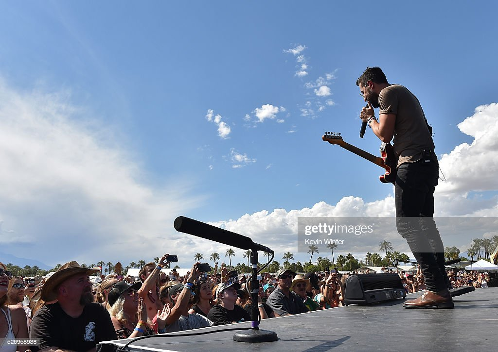 Musician Matthew Ramsey of Old Dominion performs onstage during 2016 Stagecoach California's Country Music Festival at Empire Polo Club on May 01, 2016 in Indio, California.