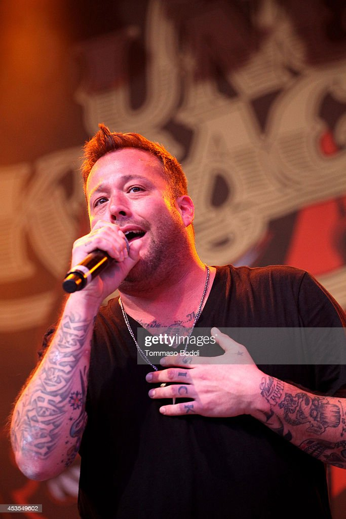 Musician Matthew Shafer of Uncle Kracker performs during the Under The Sun Tour at The Greek Theatre on August 12 2014 in Los Angeles California