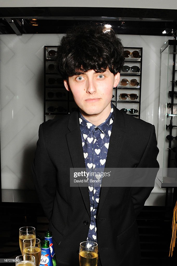 Musician Matthew Whitehouse of The Heartbreakers attends Burberry Live at 121 Regent Street at Burberry on April 23, 2013 in London, England.