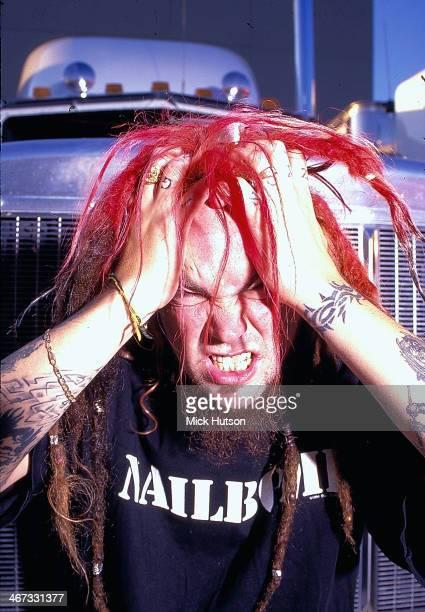 Musician Max Cavalera with the band Sepultura in a posed portrait circa 19952000