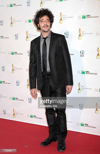 Musician Max Gazze attends 2013 Premi David di Donatello Ceremony Awards at Dear RAI Studios on June 14 2013 in Rome Italy