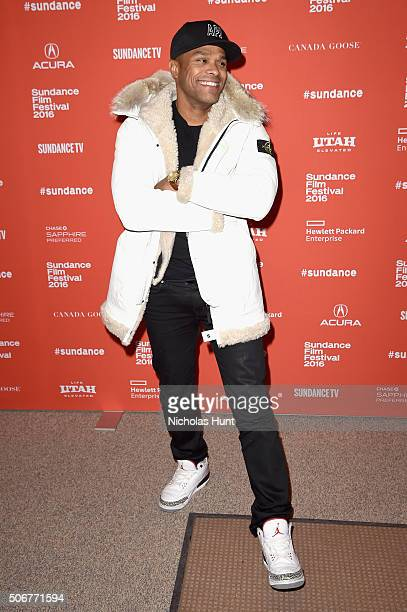 Musician Maxwell attends 'The Birth Of A Nation' premiere during the 2016 Sundance Film Festival at Eccles Center Theatre on January 25 2016 in Park...