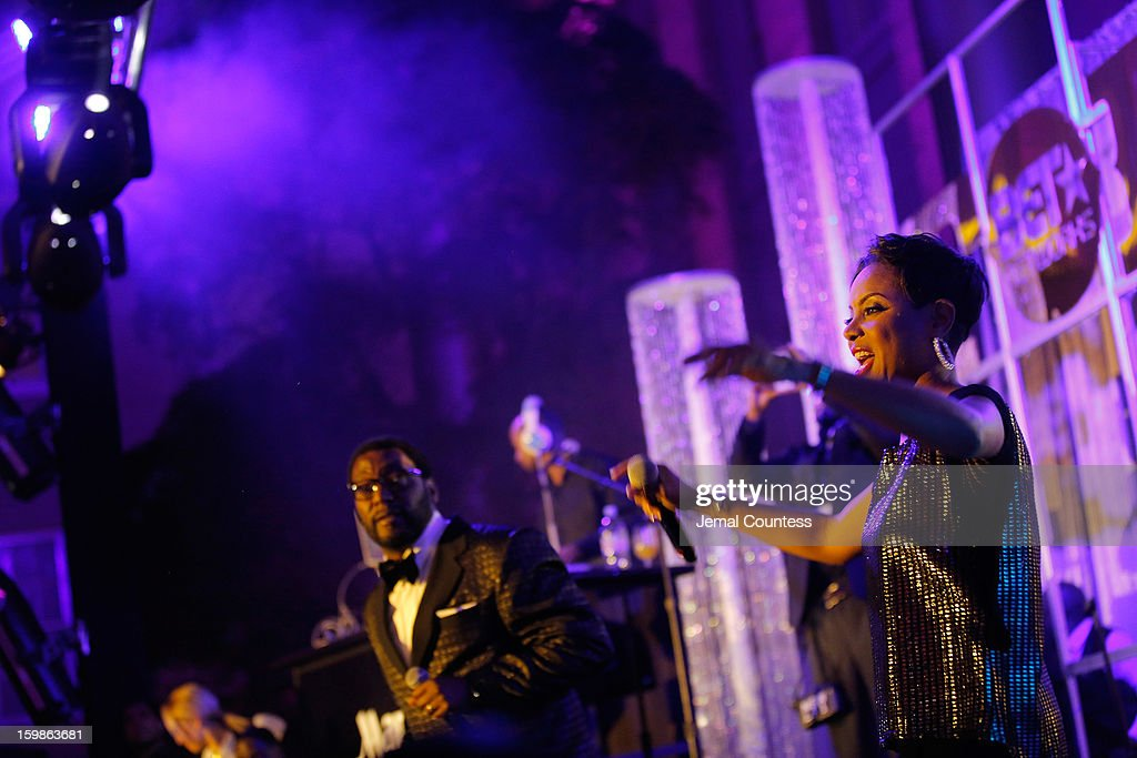 Musician MC Lyte performs on stage at the Inaugural Ball hosted by BET Networks at Smithsonian American Art Museum & National Portrait Gallery on January 21, 2013 in Washington, DC.