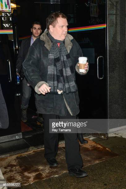 Musician Meat Loaf leaves the 'Wendy Williams Show' taping at the Chelsea Television Studio on January 27 2014 in New York City