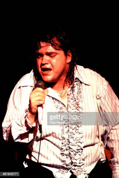 Musician Meat Loaf performs onstage at the Riviera Theater Chicago Illinois October 29 1977