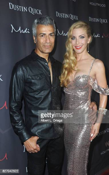 Musician Medi eM and model/actress Dustin Quick at the Music Video Premiere HEARTBEAT by Medi eM Dustin Quick held on August 5 2017 at Statioh W...
