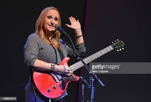 Musician Melissa Etheridge attends Meet the Musician Melissa Etheridge at the Apple Store Soho on August 7 2012 in New York City