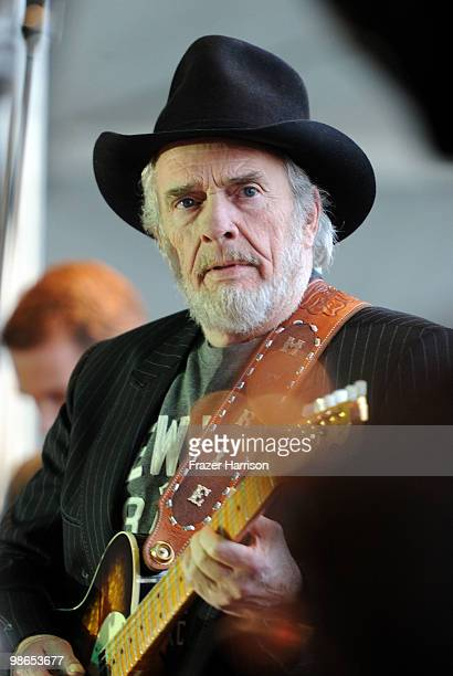 Musician Merle Haggard performs during day 1 of Stagecoach California's Country Music Festival 2010 held at The Empire Polo Club on April 24 2010 in...