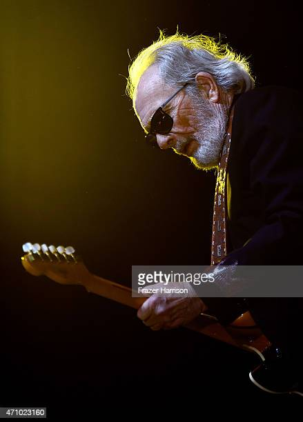 Musician Merle Haggard performs onstage during day one of 2015 Stagecoach California's Country Music Festival at The Empire Polo Club on April 24...