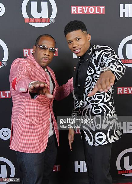 Musician Michael Bivins and Actor Bryshere Y Gray attend the 20th Annual Urbanworld Film Festival 'The New Edition Story' Screening at AMC Empire 25...