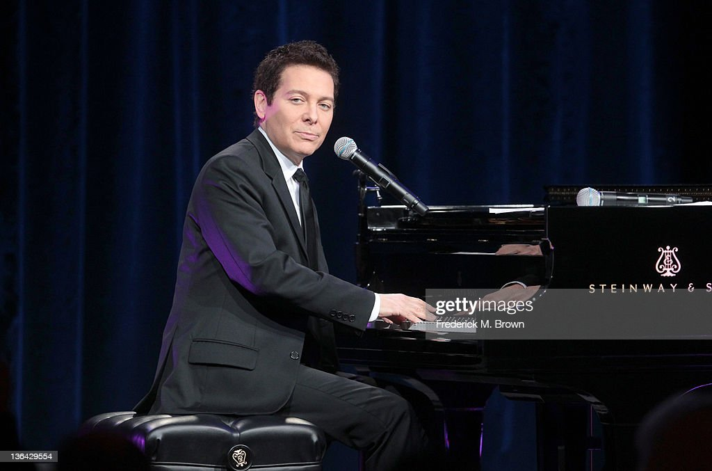 Musician <a gi-track='captionPersonalityLinkClicked' href=/galleries/search?phrase=Michael+Feinstein&family=editorial&specificpeople=215225 ng-click='$event.stopPropagation()'>Michael Feinstein</a> performs during the '<a gi-track='captionPersonalityLinkClicked' href=/galleries/search?phrase=Michael+Feinstein&family=editorial&specificpeople=215225 ng-click='$event.stopPropagation()'>Michael Feinstein</a>'s American Songbook II' panel during the PBS portion of the 2012 Winter TCA Tour held at The Langham Huntington Hotel and Spa on January 4, 2012 in Pasadena, California.