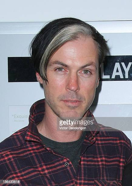 Musician Michael Fitzpatrick of Fitz and the Tantrums arrives for the screening of 'The Lie' at The Downtown Independent on January 4 2012 in Los...