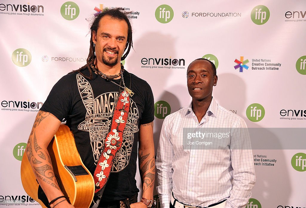 Musician <a gi-track='captionPersonalityLinkClicked' href=/galleries/search?phrase=Michael+Franti&family=editorial&specificpeople=240465 ng-click='$event.stopPropagation()'>Michael Franti</a> and actor <a gi-track='captionPersonalityLinkClicked' href=/galleries/search?phrase=Don+Cheadle&family=editorial&specificpeople=202096 ng-click='$event.stopPropagation()'>Don Cheadle</a> attend 2012 Sustainable Operations Summit at the Hilton New York on April 17, 2012 in New York City.