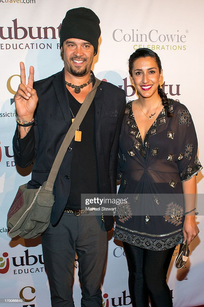 Musician <a gi-track='captionPersonalityLinkClicked' href=/galleries/search?phrase=Michael+Franti&family=editorial&specificpeople=240465 ng-click='$event.stopPropagation()'>Michael Franti</a> (L) and Tara Franti-Rye attend Annual Ubuntu Education Fund NY Gala at Gotham Hall on June 6, 2013 in New York City.