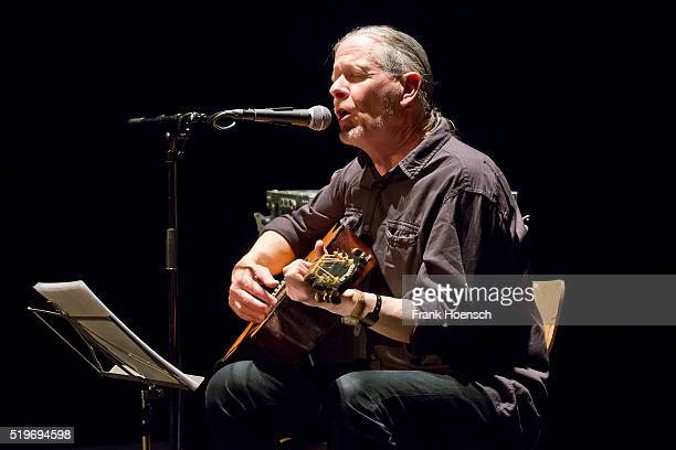 Musician Michael Gira performs live during a concert at the Volksbuehne on April 7 2016 in Berlin Germany