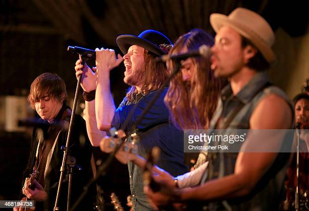 Musician Michael Hobby performs onstage during A Thousand Horses presented by BMLG/Republic Nashville at The Sayers Club on March 30 2015 in...
