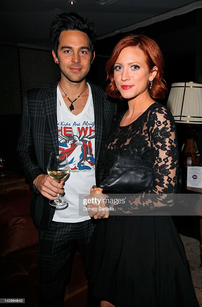 Musician Michael Johnson (L) and actress <a gi-track='captionPersonalityLinkClicked' href=/galleries/search?phrase=Brittany+Snow&family=editorial&specificpeople=206624 ng-click='$event.stopPropagation()'>Brittany Snow</a> attend a celebration for Glamour's new book 'Thirty Things Every Woman Should Have and Should Know by the Time She's 30' with Cindi Leive and Rachel Zoe on April 16, 2012 in West Hollywood, California.