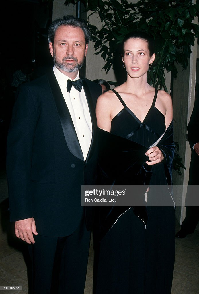 Musician Michael Nesmith and wife Victoria Kennedy attending 21st Annual American Film Institute Lifetime Achievement Awards Honoring Liz Taylor on March 10, 1993 at the Beverly Hilton Hotel in Beverly Hills, California.