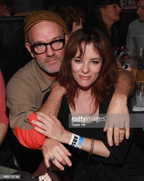 Musician Michael Stipe and actress Parker Posey attend Beth Ditto's concert at XL Nightclub on April 13 2013 in New York City