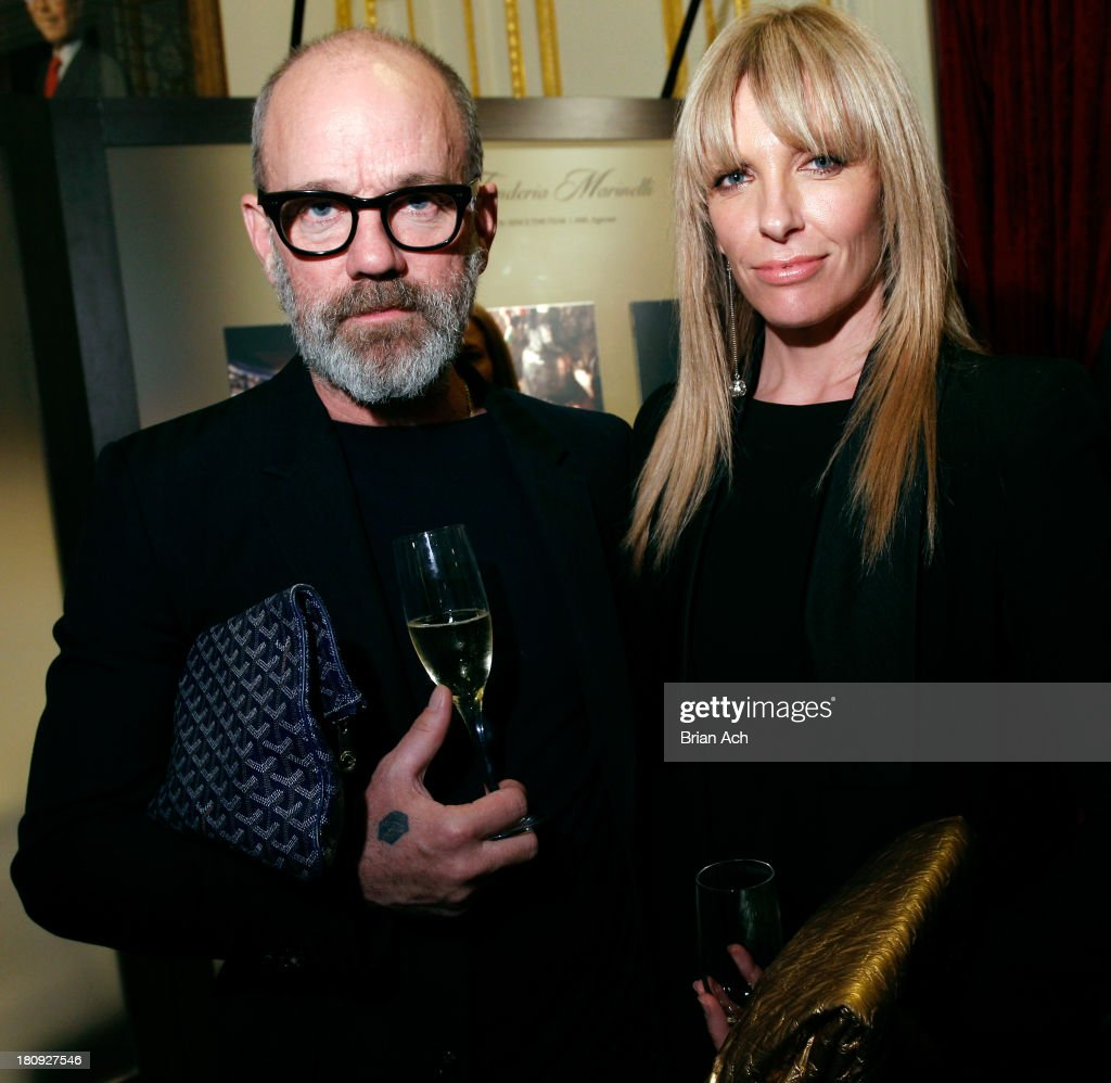 Musician <a gi-track='captionPersonalityLinkClicked' href=/galleries/search?phrase=Michael+Stipe&family=editorial&specificpeople=178318 ng-click='$event.stopPropagation()'>Michael Stipe</a> and actress <a gi-track='captionPersonalityLinkClicked' href=/galleries/search?phrase=Toni+Collette&family=editorial&specificpeople=204673 ng-click='$event.stopPropagation()'>Toni Collette</a> attend Acqua di Parma gala event: Roberto Bolle and Friends tribute to La nobilita' del Fare Giovanni Gastel photo exhibition, as part of 2013 year of Italian Culture in The US on September 17, 2013 in New York City.