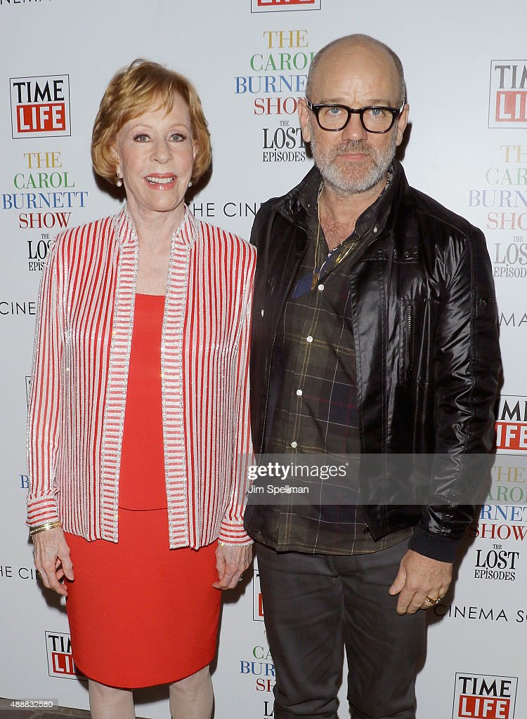 Musician Michael Stipe and actress/comedian Carol Burnett attend 'The Carol Burnett Show: The Lost Episodes' screening hosted by Time Life and The Cinema Society at Tribeca Grand Hotel on September 17, 2015 in New York City.